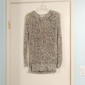 Silence + Noise Black and White Open Knit Sweater